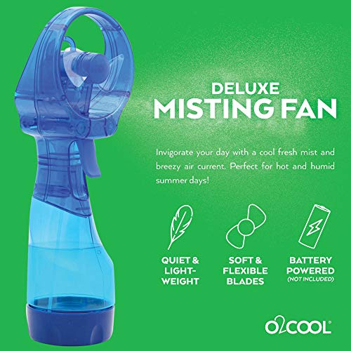 O2COOL Deluxe Misting Personal Fan, 2.5