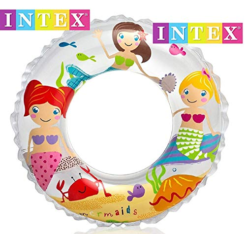 Intex 24' Inflatable Transparent Ring Swim Tube #59242 - Color May Very - 2 Pack