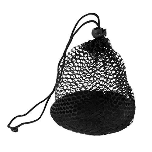 Gazechimp Nylonnetz Tasche Golf Tennis Ball Tragetasche zur Aufbewahrung für 12/25/50 Golfbälle Tennisbälle - L