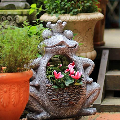 ETH Jardinería Pots Encantadores Creativos Grande De La Rana/del Gato del Animal del Jardín De Balcón En Maceta Suculentas Artesanías Decorativas Carnaval de Halloween (Size : M)