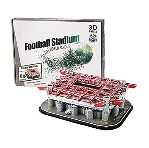 ELXSZJ XTZJ 3D Puzzle Spielzeug Geschenke für Erwachsene & Teenager & Kinder -Football Feld Modell Kits-Old Trafford Stadium Modell/Brain Teaser Puzzles