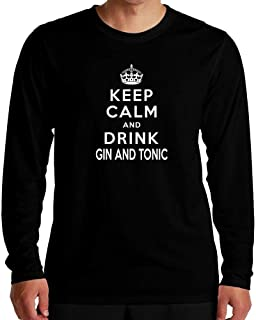 Idakoos Keep Calm and Drink Gin and Tonic Long Sleeve T-Shirt