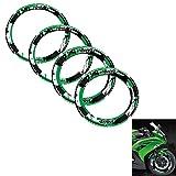 Reflektierend Rad Aufkleber Außenkreis Aufkleber Geeignet Kawasaki Ninja (Grün)