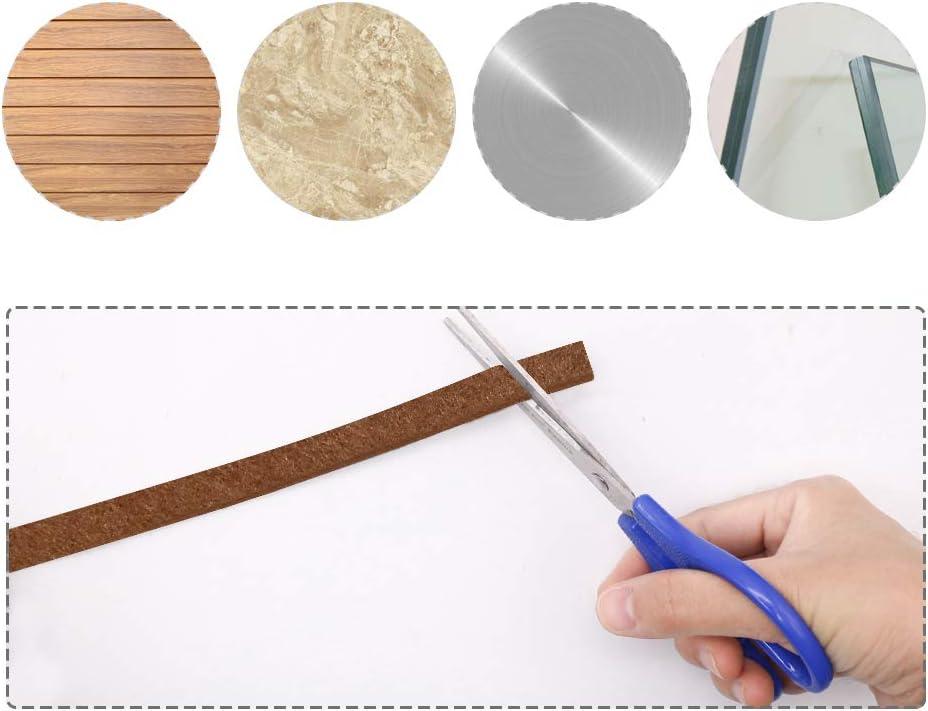 Shintop Lot de 2 rouleaux de ruban adh/ésif en feutre tr/ès r/ésistant /à d/écouper dans nimporte quelle forme pour prot/éger vos sols en bois dur et stratifi/és caf/é 1,3 x 140,9 cm
