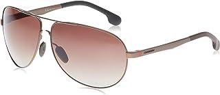 Carrera Men's Ca8023s Aviator Sunglasses, Matte Brown/Brown Gradient Polarized, 65 mm