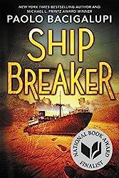 Image of Ship Breaker novel cover, Paolo Bacigalupi