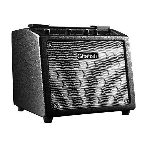 Fesjoy Amplificatore per Chitarra, B9 Amplificatore Portatile per Chitarra elettrica 8W Amplificatore Ricaricabile Altoparlante 18 Tipi di ritmi di Batteria con Microfono Ingresso AUX di Uscita