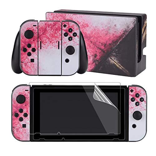 eXtremeRate Neurofunk Lot complet de 2 films de protection d'écran pour Nintendo Switch (console & Joy-con & Dock & Grip)