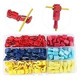 RUNCCI-YUN 120PcsT-Tap Cable Conector Kit, Conectores de Empalme rápido de Cables eléctricos,- Rojo x20 Pares, Azul x20 Pares, Amarillo x20 Pares