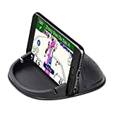 Car Phone Holder Cell Phone Holder Phone Mount for Car, Anti-Slip Silicone Car Pad Dashboard Phone Holder Stand Compatible with iPhone,Samsung,GPS Devices