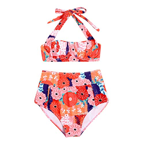 YANFANG Bikini y Tanga Mujer,Traje de baño de Verano Bikini de Dos Piezas para Mujer Traje de baño conciso Sexy Bañador, Ropa de baño, 1 Sujetador+1braga