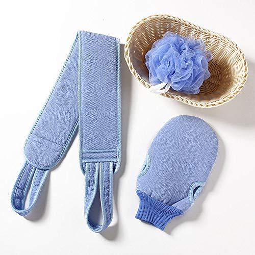 Silikon Körperbürste, Peelingbürste,Rückenbürste,Silikon Körperbürste, die an der Hand getragen werden kann,Double-Sided Badebürste,Drei in einem Anzug