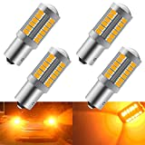 4 pz Ambra 1156 BAU15S PY21W 5630 33SMD LED lampadine a LED 900LM Super Bright LED Indicatori di direzione Coda luce di parcheggio 12-30 V 3.6 W