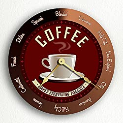 Classical Creations Coffee Makes Everything Possible Roasts Retro Style 12 Silent Wall Clock
