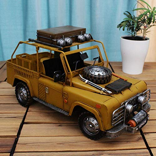 TOORY mural Decoration Gift Retro Nostalgic Living Room Decoration Creative Home Accessories Furnishings Open Hood Jeep Model Car Model Ornaments