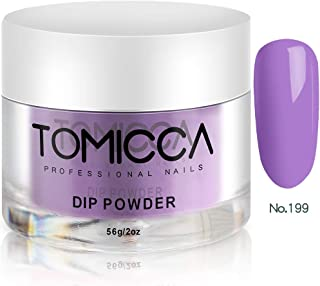 TOMICCA Nail Dipping Powder Nail Art Dust Powder, 56g per Jar (Purple Set)