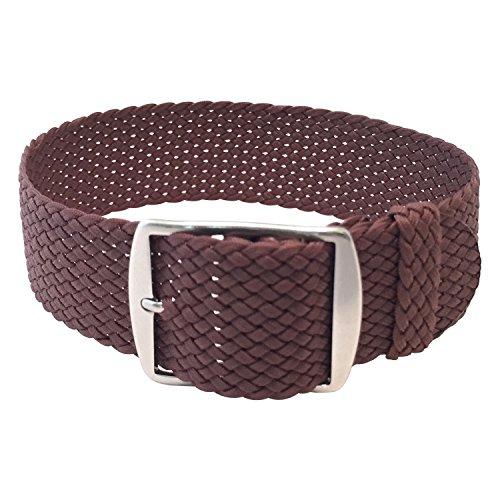 Wrist And Style Perlon Watch Strap (20mm, Light Brown)