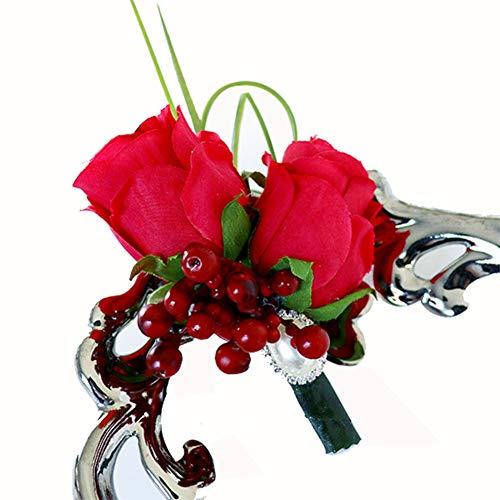 Demarkt 1 stuks simulatie boetsed doek boutekonnees bruid corsage bloem bruidegom gastenaansteker bouwennés bloemen-deeg speld shirt accessoires voor bruiloft decoratie bruiloft levert
