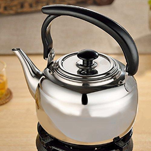 ZAK168sifflante Bouilloire à thé avec poignée Résiste à la Chaleur, DE Cuisine en Acier Inoxydable cuisinière Théière, 1L, Voir Image, 1 l