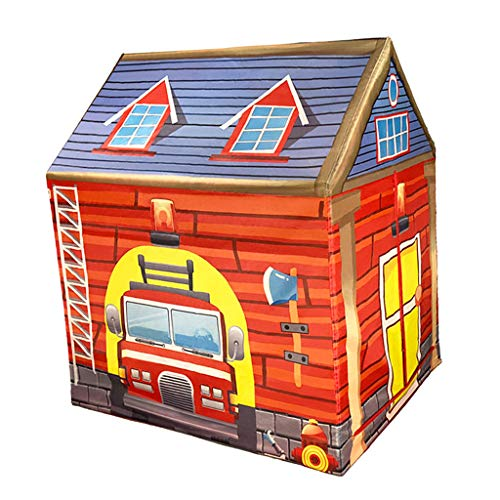 D DOLITY Tienda de Campaña Plegable Casa de Juego Temática de Circo/Casa de Bomberos/Postres Juego al Aire Libre de Viaje Camping - #6