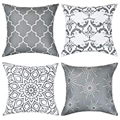 FASHION STYLE: Four different shapes of geometric patterns make the entire pillow cover full of fashion and illuminate your home. POLYESTER PEACH MATERIAL: These decorative pillow covers are made of polyester peach. Softness, comfort and durability a...