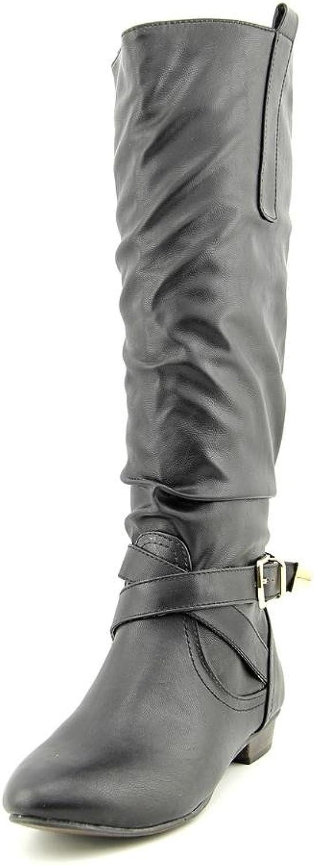Material Girl Cooper Women US 6.5 Black Knee High Boot