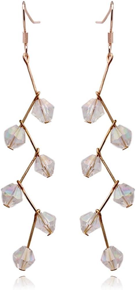 Grace Jun Handmade Austrian Crystal Screw Clip on Earrings With Pierced Earrings 6 Colors