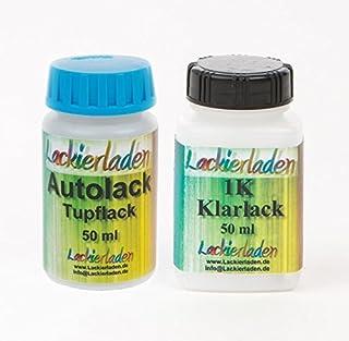 Autolack Tupflack Lackstift Farbstift Set 2 x 50 ml Audi LX6V,4M Jaspisgruen Met.