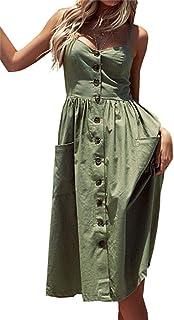 فساتين الصيف مخططة للنساء فستان الشاطئ الأزهار السباغيتي حزام تأرجح ميدي اللباس