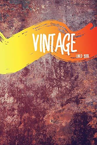 Vintage Lined Book: No.2 Classic Color Vintage & Retro Style 6x9