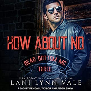 How About No     Bear Bottom Guardians MC, Book 3              By:                                                                                                                                 Lani Lynn Vale                               Narrated by:                                                                                                                                 Aiden Snow,                                                                                        Kendall Taylor                      Length: 6 hrs and 43 mins     1 rating     Overall 5.0