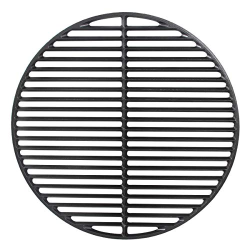 Dracarys 18' Cast Iron Cooking Grate Grids Round Accessories for Large Big Green Egg,Kamado Joe Classic Vision Grill VGKSS-CC2,B-11N1A1-Y2A Any 18' Grill