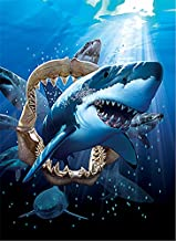 3D Home Wall Art Decor Lenticular Pictures, Shark Collection Holographic Flipping Images, 12x16 inches Animal Poster Painting, Without Frame, Shark