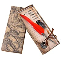 Songowe書道ペンディップライティングペンペンペンの交換のヒントディップペンライティングペンセットインクペンでインクを書くヴィンテージペンのセットペン