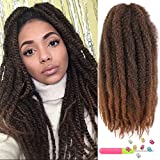6Packs Marley Hair 24 inch Marley Hair For Twists Long afro kinky Twist Marley braiding hair Extension Synthetic Fiber Marley Braid Crochet Hair (T1B/30#)