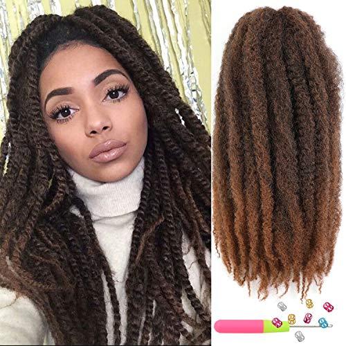 6Packs Marley Hair 24 inch Marley Hair For Twists Long afro kinky Twist Marley braiding hair Extension Synthetic Fiber Marley Braid Crochet Hair (T1B/30#)