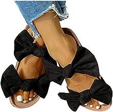 Womens Slides Beach Thong Slipper,Summer Bow Tie Flip Flops Flat Sandals for Women