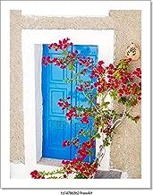 Barewalls Traditional Greek Window On Sifnos Island, Greece Paper Print Wall Art (10in. x 8in.)