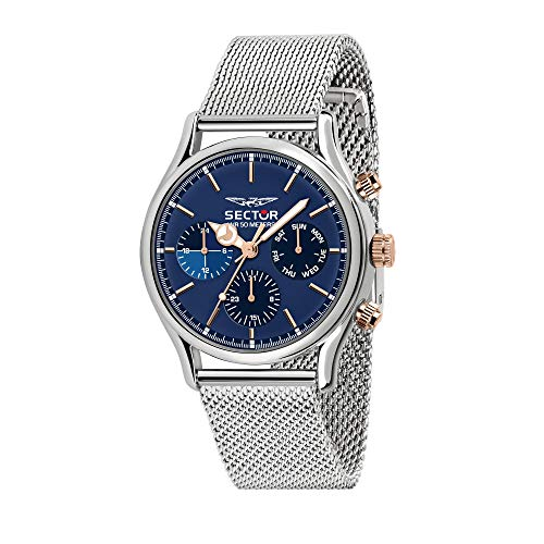 Sector No Limits Herren Analog Quartz Uhr mit Stainless Steel Armband R3253517009
