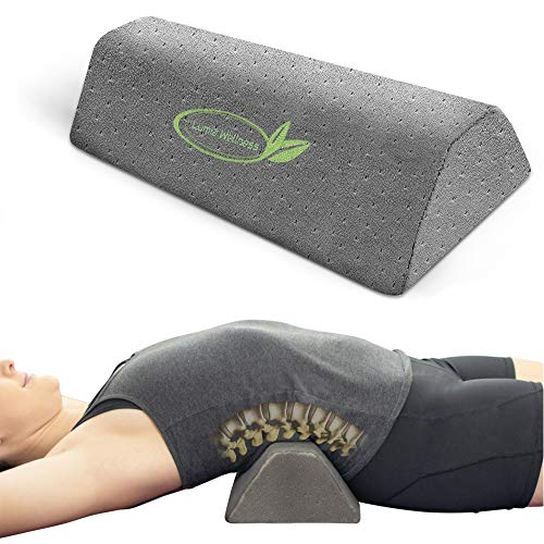 Lumbar Traction Fulcrum | Firm | Gentle Posture Corrector | Lower Back Stretcher Device |...