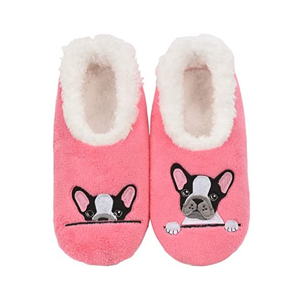 Snoozies Pairables Womens Slippers – House Slippers – Frenchie