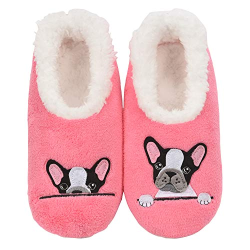 Snoozies Slippers for Women - Pairables Womens Slippers - Frenchie - X-Large