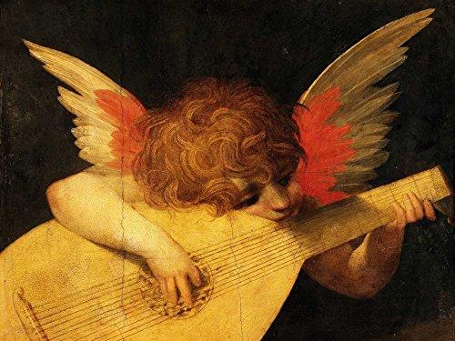 Feeling at home Kunstdruck-auf-Papier-cm_73_X_98-RossoFiorentino-traditionell-Bild-Poster-Engel-Putten-Musik-Musiker-religiöse
