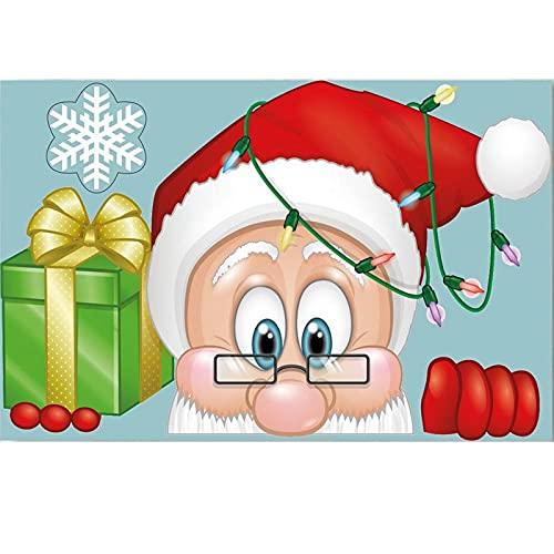 xiaoli Bandera de Navidad Tarjeta de la Taza de Navidad Fiesta de Navidad Santa Sombrero de Vino Decoración de la Copa de Vino Tabla de la casa Decoraciones Fiesta de Navidad Suministros Pancartas