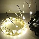 イジー・クリエーション LEDイルミネーションライト フェアリー ストリング 5m (50 LED) 屋内外用 自動点灯機能、8つの点灯パターン (シャンパンゴールド) 看板、ディスプレイ、インテリア、イベント用電飾