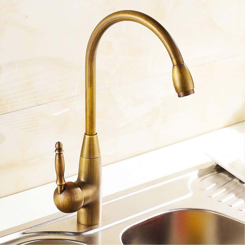 LLLYZZ Kitchen Faucets 360 Swivel Antique Brass Porcelain Mixer Tap Bathroom Basin Antique Faucet
