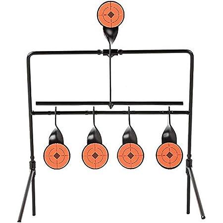 Will Outdoor Pratique en Plein air Cible de tir R/éinitialisation Automatique Rotateur Paintball Tir /à larc Slingshot BB Entra/îneur darmes