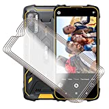 for Cubot King Kong 5 Pro Screen Protector Tempered Galss, KJYF [5 Pack] High Clear [9H Hardness] [Bubble Free] Screen Tempered Glass Protective Film for Cubot King Kong 5 Pro 6.09 Inch.