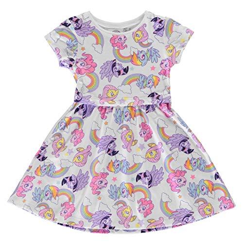 Character Kinder Jersey Kleid Mädchen Midikleid Flügelärmel My Little Pony 5-6 Jahre