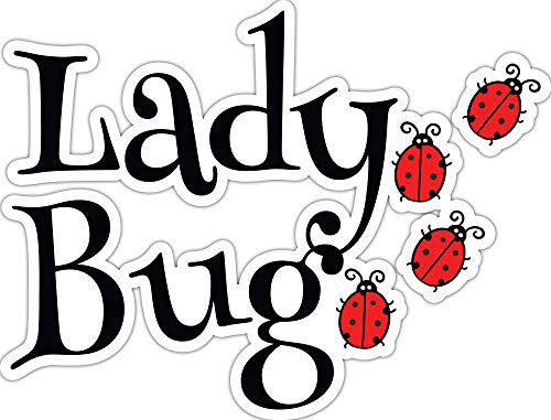 4 All Times Lady Bug Automotive Car Decal for Cars, Trucks, Laptops (8.0 W x 6.1 H)